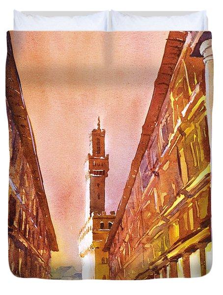 Uffizi- Florence Duvet Cover