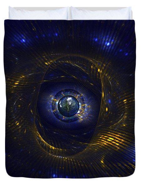 Ufo Observation Duvet Cover by Klara Acel