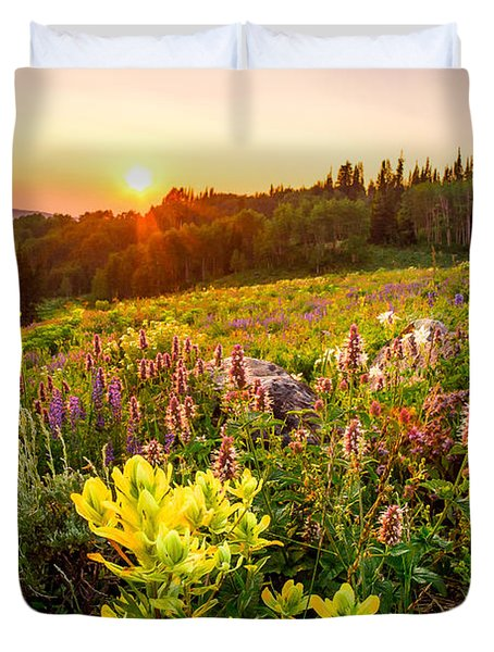 Uinta Wildflowers Duvet Cover