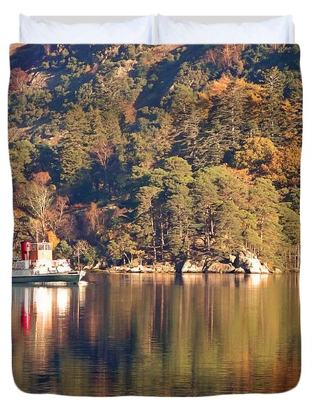 Ullswater Steamer Duvet Cover by Linsey Williams