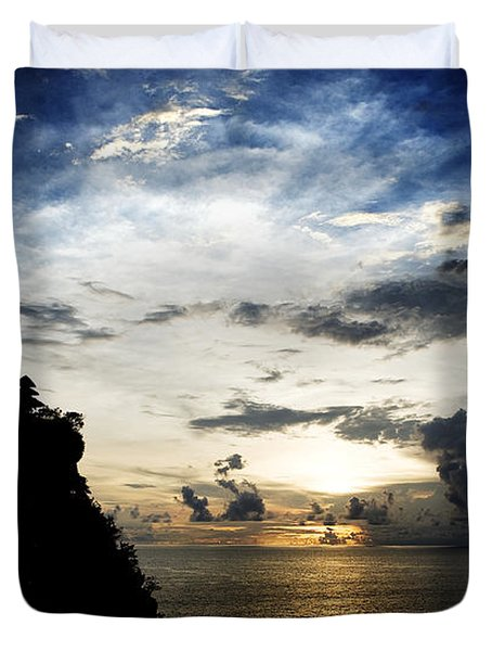 Uluwatu Temple Duvet Cover by Yew Kwang