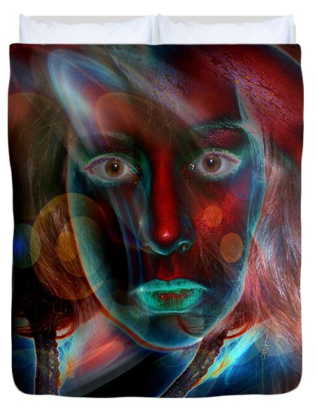 Duvet Cover featuring the digital art Umbilical Connection To A Dream  by Otto Rapp