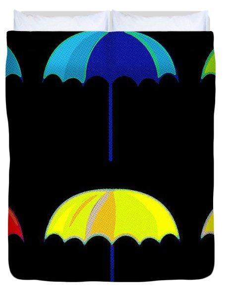 Umbrella Ella Ella Ella Duvet Cover by Florian Rodarte