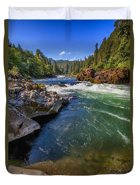 Umpqua River Duvet Cover