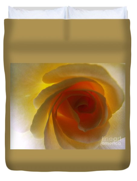 Duvet Cover featuring the photograph Unaltered Rose by Robyn King