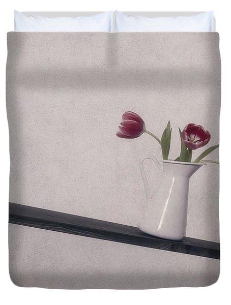 Unbalanced Flowers Duvet Cover by Joana Kruse