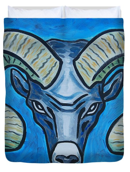 Ram With Sky Blue Duvet Cover