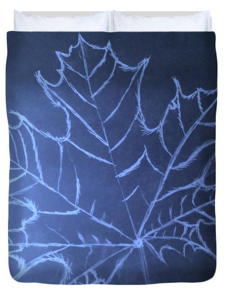 Duvet Cover featuring the drawing Uncertaintys Leaf by Jason Padgett