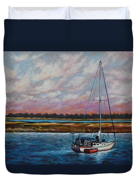 Uncharted Territory Duvet Cover by Eve  Wheeler