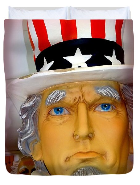 Uncle Sam Wants You Duvet Cover by Ed Weidman