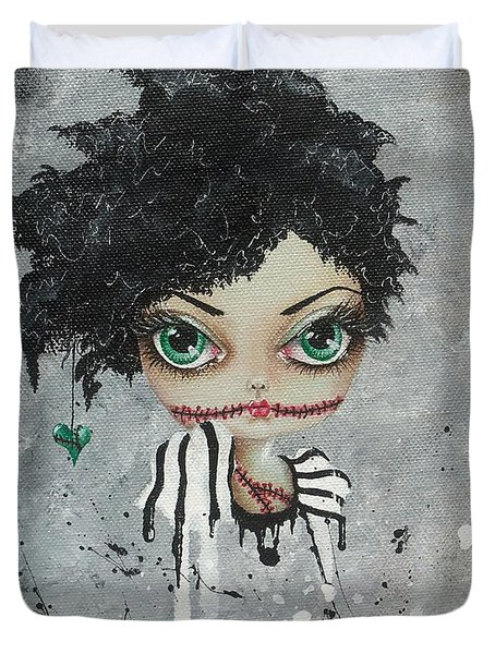 Undead Beauty Queen Duvet Cover by Oddball Art Co by Lizzy Love