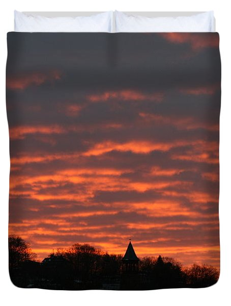 Under A Blood Red Sky Duvet Cover by Neal Eslinger