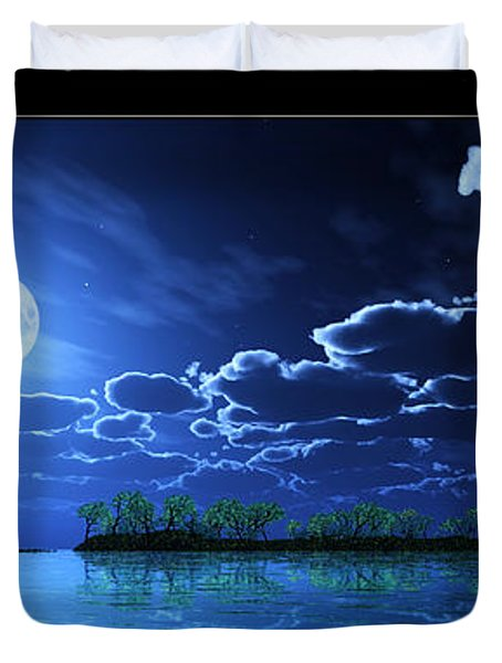Under A Silvery Moon... Duvet Cover by Tim Fillingim