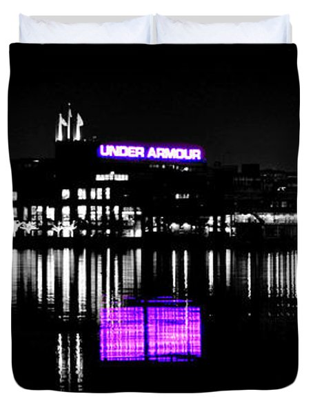 Under Amour At Night - Vibrant Color Splash Duvet Cover