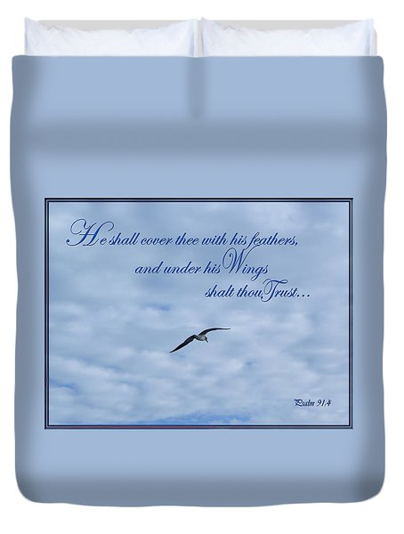 Under His Wings Duvet Cover by Larry Bishop
