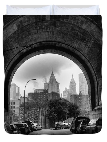 New York City - Manhattan Bridge - Under Duvet Cover