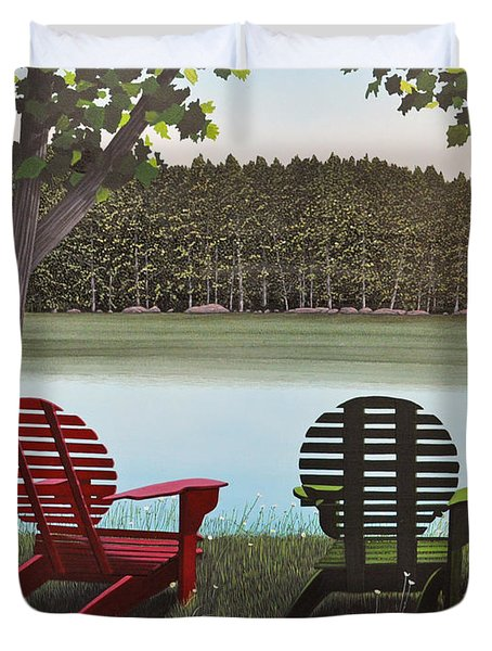 Under Muskoka Trees Duvet Cover