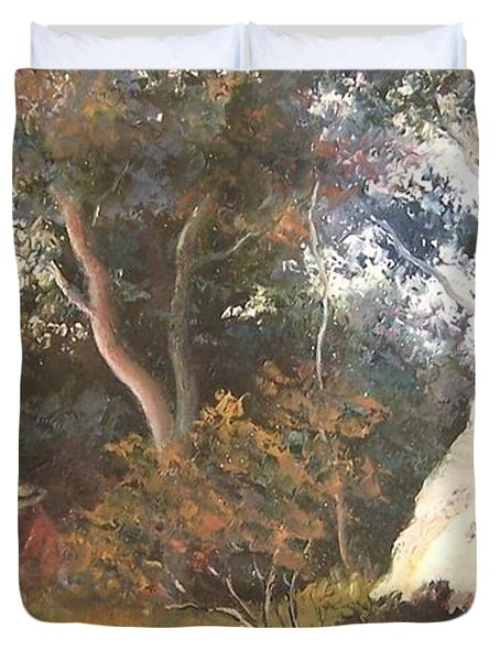 Under The Ancient Gum Tees Duvet Cover by Jan Matson