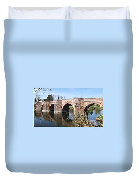 Duvet Cover featuring the photograph Under The Arches by Tracey Williams