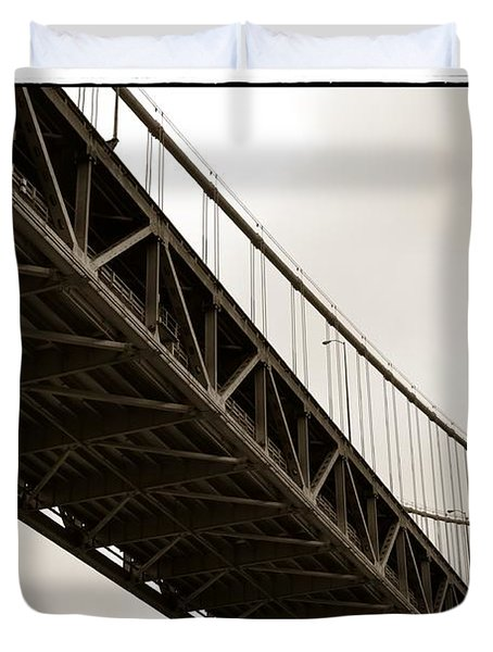 Under The Bay Bridge Duvet Cover