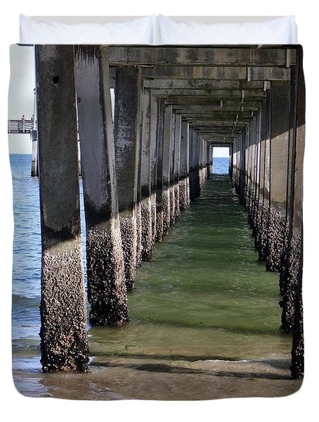 Under The Boardwalk Duvet Cover by Ed Weidman
