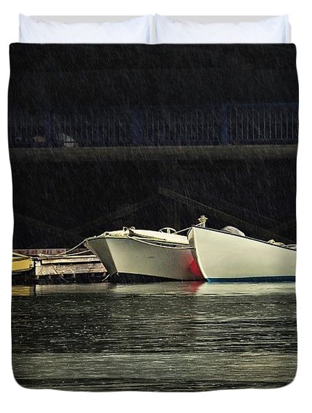 Duvet Cover featuring the photograph Under The Bridge by Laura Ragland