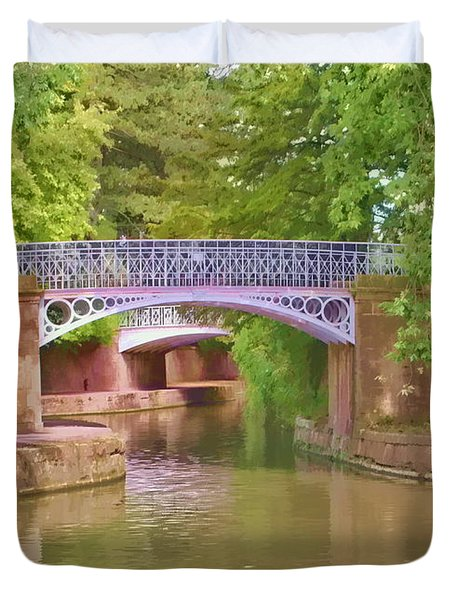 Under The Bridges Duvet Cover