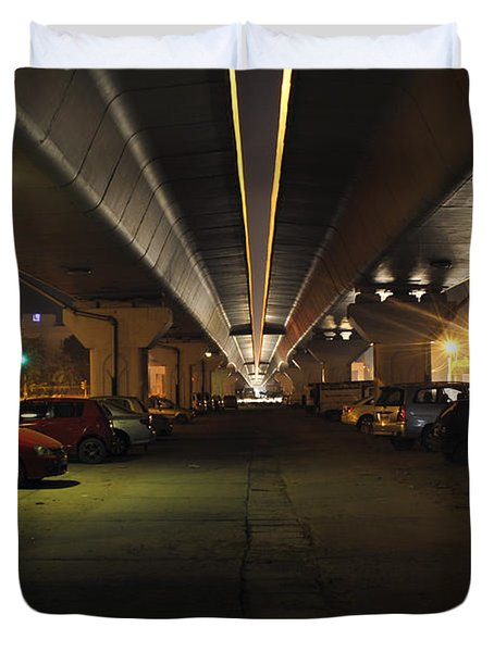 Under The Flyover  Duvet Cover by Sumit Mehndiratta