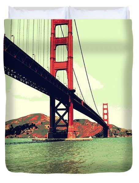 Under The Golden Gate Duvet Cover
