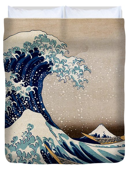 Under The Great Wave Off Kanagawa Duvet Cover