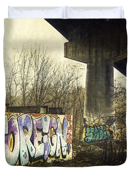 Under The Locust Street Bridge Duvet Cover