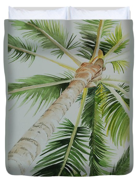 Under The Palm Duvet Cover