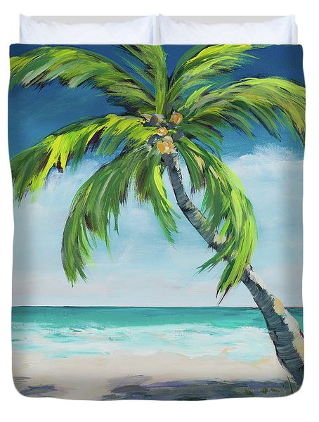 Under The Palm's Breeze I Duvet Cover
