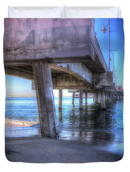 Under The Pier Duvet Cover by Heidi Smith