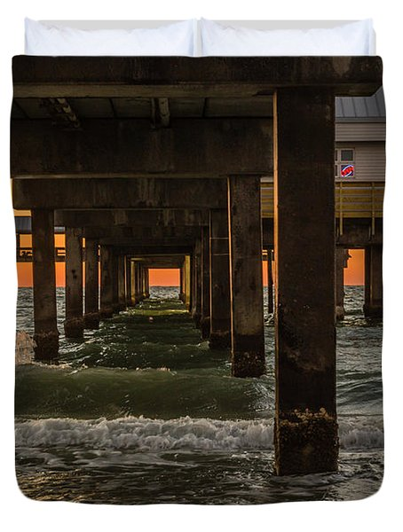 Under The Pier Duvet Cover by Jane Luxton