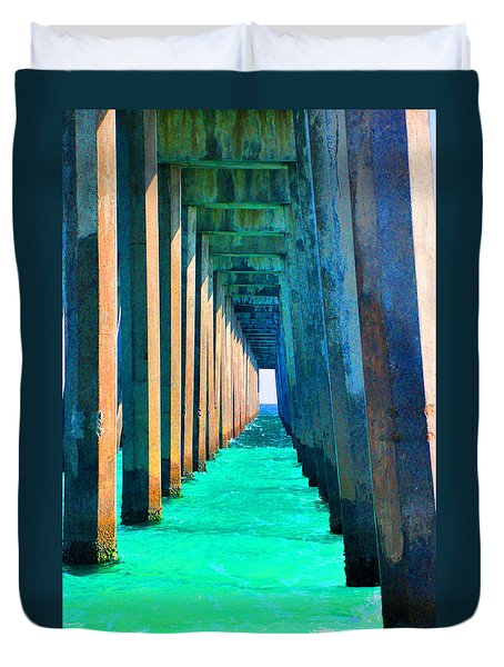 Under The Pier Too Duvet Cover