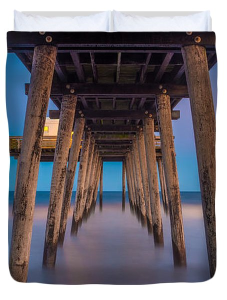 Under The Pier - Wide Version Duvet Cover