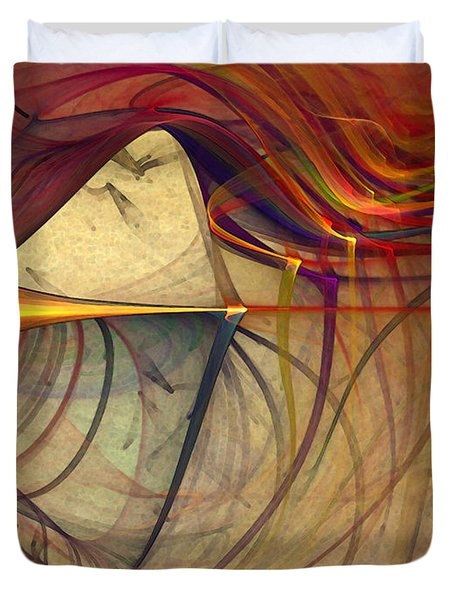 Under The Skin-abstract Art Duvet Cover