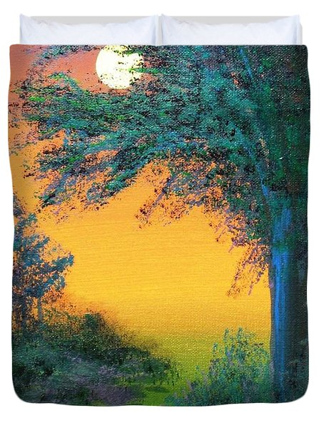 Under The Solstice Moon Duvet Cover by Alys Caviness-Gober