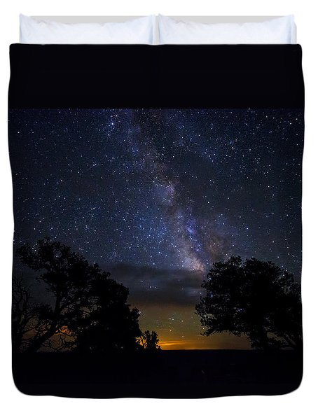 Under The Stars At The Grand Canyon  Duvet Cover