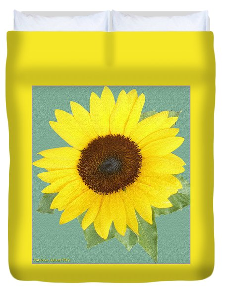 Under The Sunflower's Spell Duvet Cover by Patricia Keller