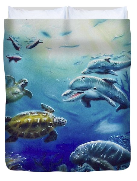 Under Water Antics Duvet Cover