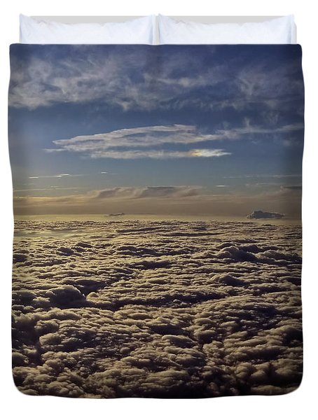 Duvet Cover featuring the photograph Undercast And Sun by Greg Reed