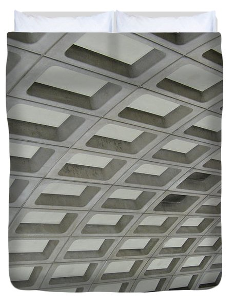 Underground. Washington Dc. Usa Duvet Cover