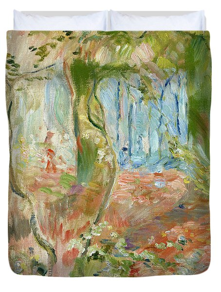Undergrowth In Autumn Duvet Cover by Berthe Morisot