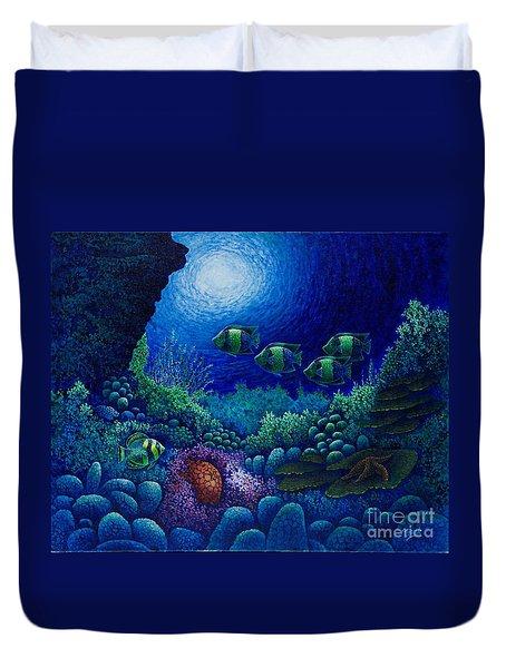 Undersea Creatures Iv Duvet Cover