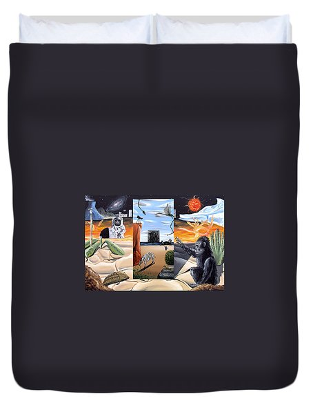 Duvet Cover featuring the digital art Understanding Everything Full by Ryan Demaree