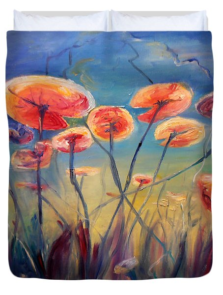 Underwater Ballet Duvet Cover by Art by Kar