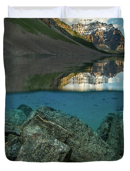 Underwater Consolation Lake Duvet Cover