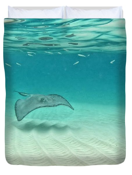 Underwater Flight Duvet Cover